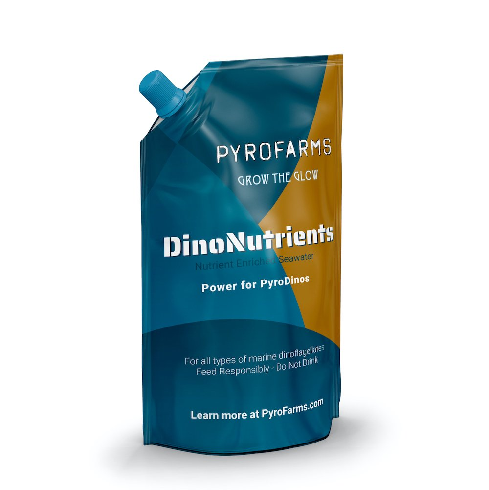 Nutrients for dinoflagellates bioluminescent algae